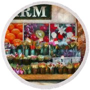 Store - Westfield Nj - The Flower Stand Round Beach Towel