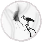 Storks Round Beach Towel