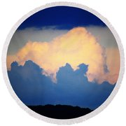 Storm Approaching Painting Round Beach Towel