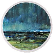 Storm At Sea II Round Beach Towel