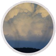 Storm At Sunset Bluestone State Park West Virginia Round Beach Towel