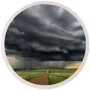 Storm Chaser  0352 Round Beach Towel