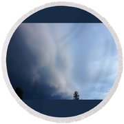 Storm Cloud Taking Over Round Beach Towel