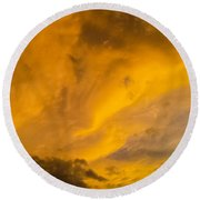 Storm Clouds 3 Round Beach Towel