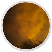 Storm Clouds 4a Round Beach Towel
