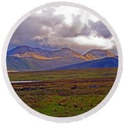 Storm Clouds Ahead In Connemara Round Beach Towel