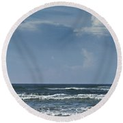 Storm Clouds On The Horizon Ocean Isle North Carolina Round Beach Towel