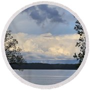 Storm Clouds Over Kentucky Lake Round Beach Towel