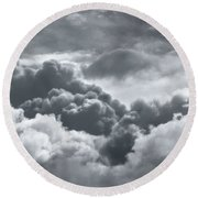 Storm Clouds Over Sheboygan Round Beach Towel