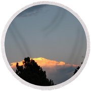 Storm Clouds Over The Front Range Round Beach Towel