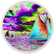 Storm Front Round Beach Towel