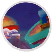 Storm Horizon Round Beach Towel