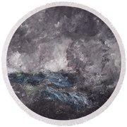 Storm In The Skerries. The Flying Dutchman Round Beach Towel