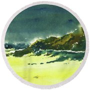 Storm Is Brewing Round Beach Towel