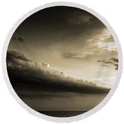 Storm Is Coming Round Beach Towel