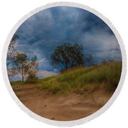 Storm Round Beach Towel