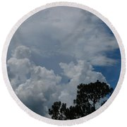 Storm Moving In Round Beach Towel