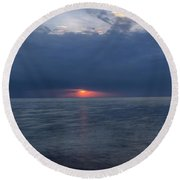 Storm On Fire  Round Beach Towel