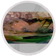 Storm On The Mountain Round Beach Towel