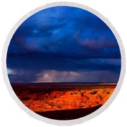 Storm On The Way Round Beach Towel
