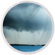 Storm Over Water Round Beach Towel