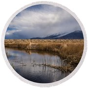 Storm Reflections Round Beach Towel