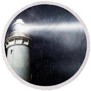 Storm Searchlight Round Beach Towel