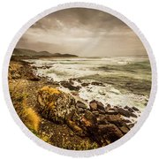 Storm Season Round Beach Towel
