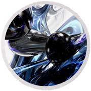 Storm Shadow Abstract Round Beach Towel