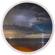 Storm Tension Round Beach Towel