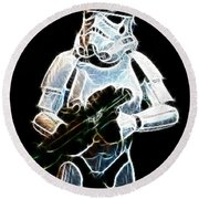 Storm Trooper Round Beach Towel