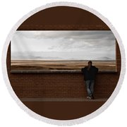 Storm View Round Beach Towel