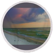Storm Warning Round Beach Towel by Bill Cannon