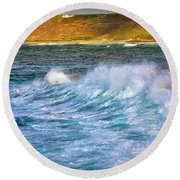 Storm Wave Round Beach Towel