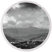 Storms In Contrast Round Beach Towel