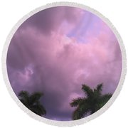 Storms In The Tropics Round Beach Towel