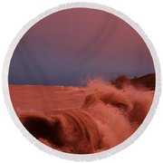 Storms On The Water Round Beach Towel