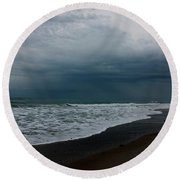 Storms Rolling In Round Beach Towel