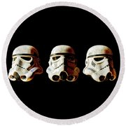 Stormtrooper 1-3 Weathered Round Beach Towel