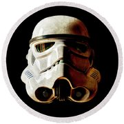 Stormtrooper 1 Weathered Round Beach Towel