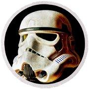 Stormtrooper 3 Weathered Round Beach Towel