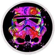 Stormtrooper Mask Rainbow 10 Round Beach Towel