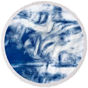 Stormy Abstract Round Beach Towel