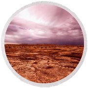 Stormy Afternoon Round Beach Towel