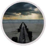 Stormy Atlantic Round Beach Towel