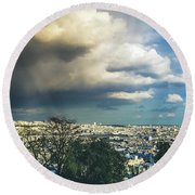 Stormy Day Round Beach Towel