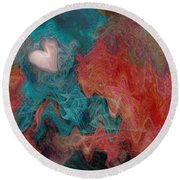 Stormy Love Round Beach Towel