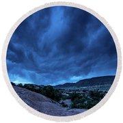Stormy Night Sky Arches National Park - Utah Round Beach Towel