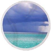 Stormy Ocean Round Beach Towel