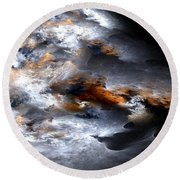 Stormy Seas Round Beach Towel